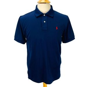 Polo Ralph Lauren Performance Polo Shirt Navy Blue